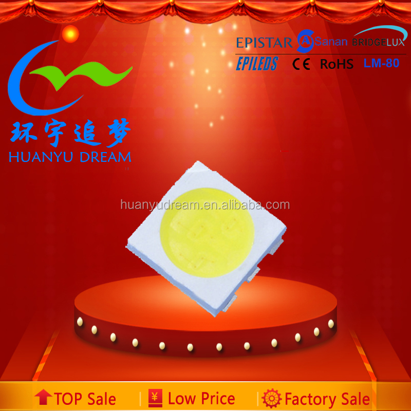 0.2W 3-chips SMD 5050 led diode 4000k-5000k