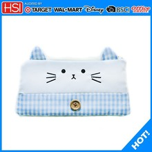 Promotional Custom Lovely cat pencil case with Buttons
