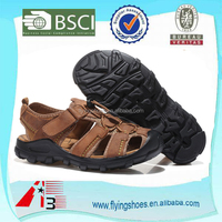 best quality genuine leather 2016 men leather sandals