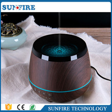 Hot selling wood grain bluetooth aroma diffused oil diffuser