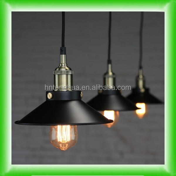 Vintage Antique Edison bare bulb pendant light industrial style