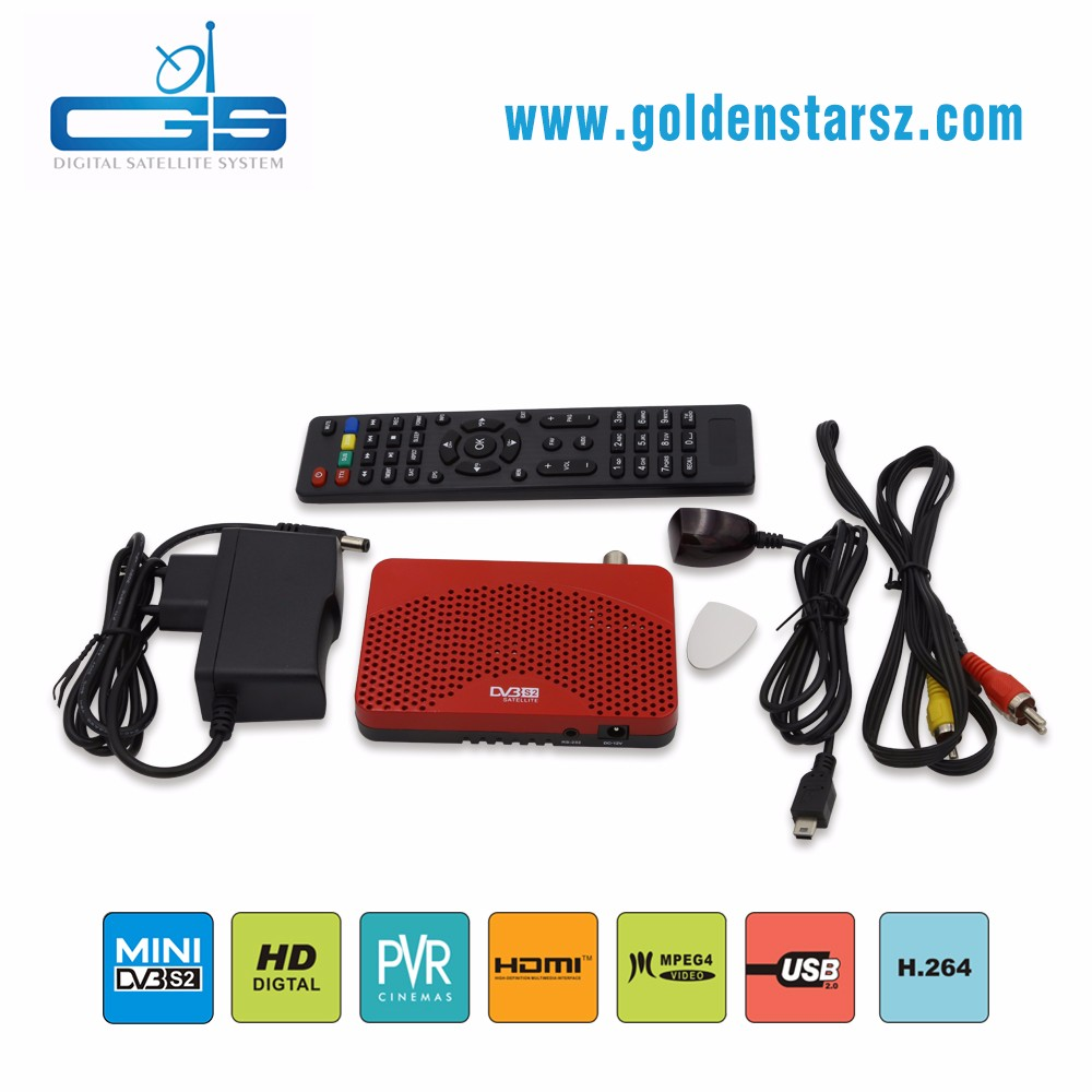 Full HD mini DVB-S2 satellite tv receiver support IKS IPTV with USB wifi to watch youtube