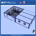 Expandable container with folding box