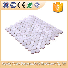 Marble Mosaic Supplier White Italian Marble Mosaic Tile Honed