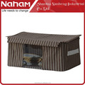Naham collapsible zakka style stripe laundry box