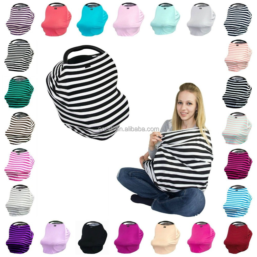 stretchy 4 in 1 nursing cover infant car seat canopy baby car seat cover
