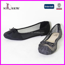 2017 new design clear flat shoes cheap middle-aged women shoes