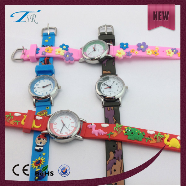 2016 promotion wristwatches 3D cartoon child silicone watch