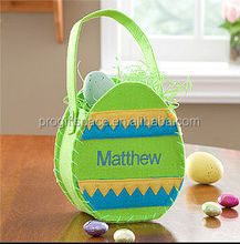 hot sale hight quality promotion items new product holiday gift handmade made in China felt easter saddlebag for Easter