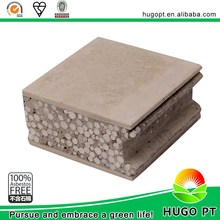 Fiber cement sheet foam concrete wall panel instead of brick