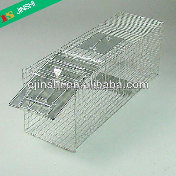 18 inch x 5 inch x 5 inch Durable Stainless Steel Wire Outdoor small Collapsible Live Animal Trap Cage,