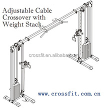 Fitness equipment/Adjustable Cable Crossover with Weight Stack