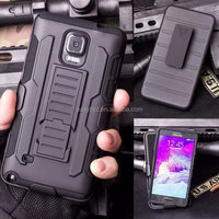 Heavy duty case for samsung galaxy note 4 and note3 combo hybrid case