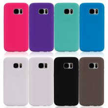 New Fashion Multicolor Silicone TPU BLank Cover Case For Iphone 6 , Outdoor Accessory Protect Shell For Galaxy S7 Edge