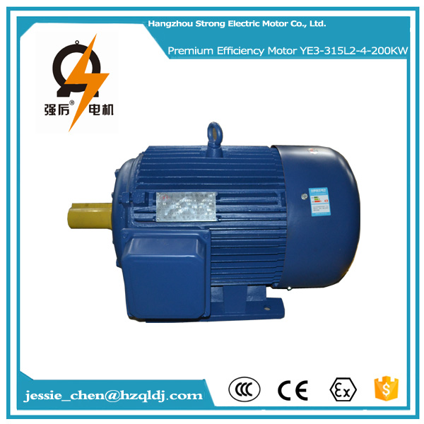 270hp 200kw ac 220v 50hz IP54 squirrel cage 3 phase induction electric motor