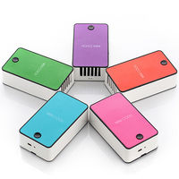Colorful national electrical portable mini square table fan cute with battery