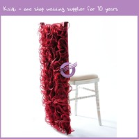 728 19516 For Wedding Party Cheap Special Event Rentals Organza Fancy Ruffled Chair Hoods Sash Covers With Chair Bows