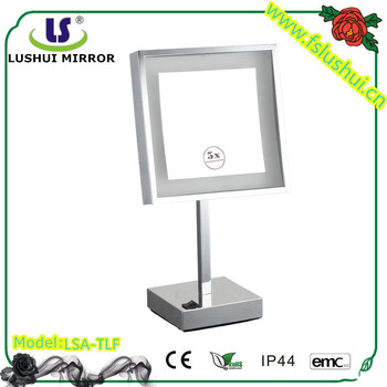 Shaving makeup table square makeup mirror lighted