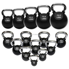 Rubber Coated Kettlebell With Chromed Handle