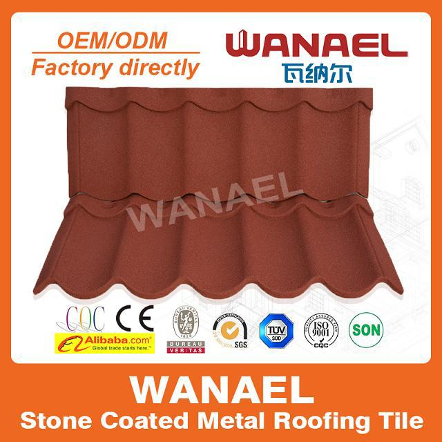 Stone coat metallic roof/spanish clay roof tile/buying building material china