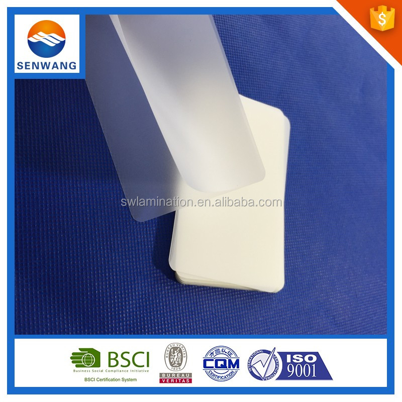 performance types of lamination on paper matte finish laminating pouches met pet film