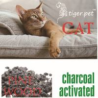 factory supply activated charcoal pine wood cat litter cat sand