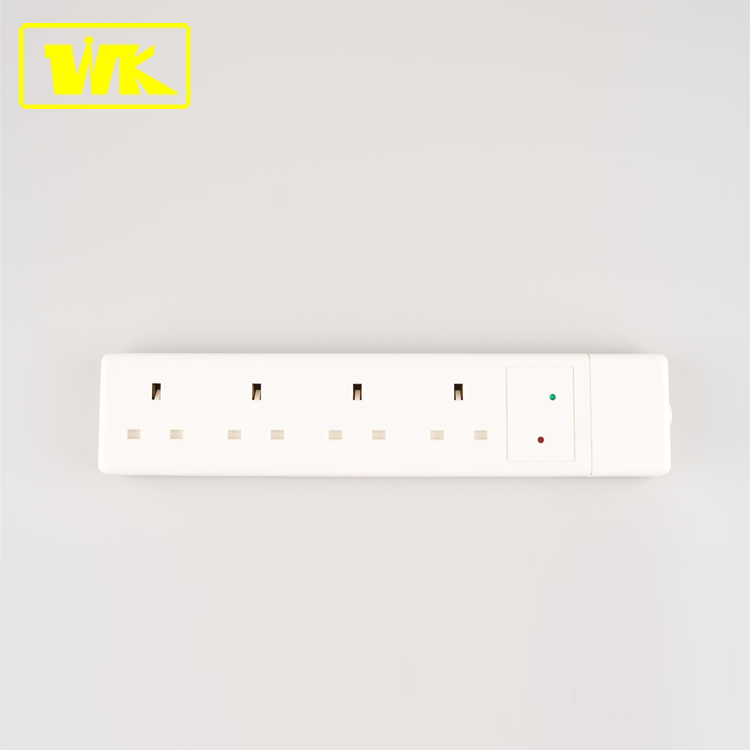 WK 13A Unfused 4way <strong>Electrical</strong> Extension Socket with Surge Protection