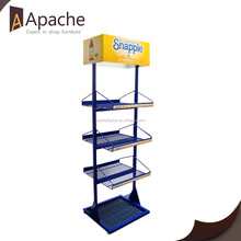 Metal display rack, multilayer metal display rack, Blue metal display rack