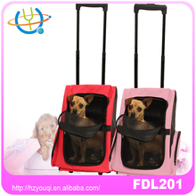 water proof dog rolling carrier 4 wheels pet bag snoozer carrier on wheels