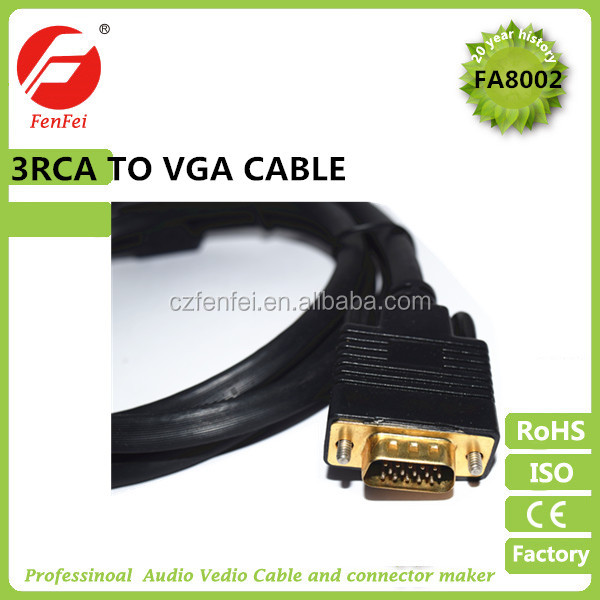 Wholesale VGA TO 3RCA CABLE