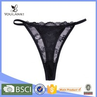 transparent china facyory OEM black sex sexy open g-string