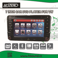 2din 7inch touch screen vw golf 5 dvd navigation