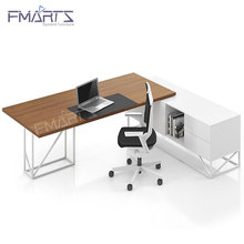Latest Design Steel Frame Custom Size Wooden Furniture Modern Modular Office Desk