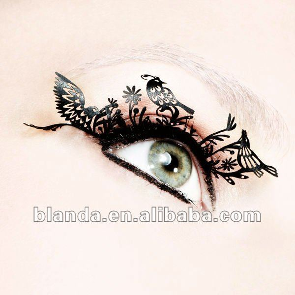 Colorful paper eyelash, art eyelashes