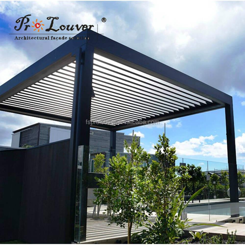 Pergola motorizado persiana dom impermeable rejilla rejilla de techo abierto contraventanas - Pergola impermeable ...
