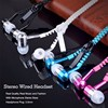 Zipper In ear earbuds headset for PC headphone for iPhone Answer calling earphone for samsung 3.5mm headphone with MIC hand free