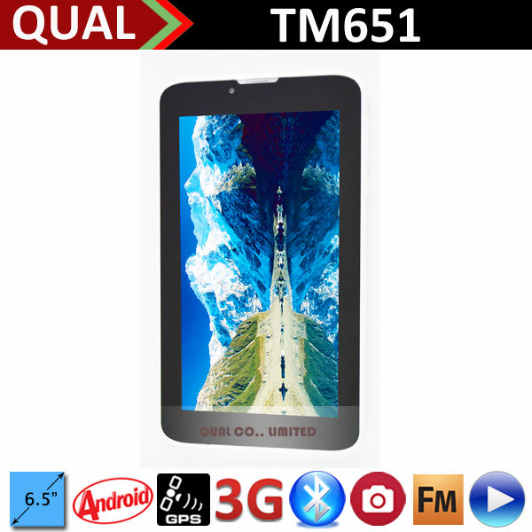Hot Selling!!! 6.5inch tablet pc with MTK8312 Dual Core WCDMA 3G phone calling Bluetooth GPS FM Android 4.2 tablet