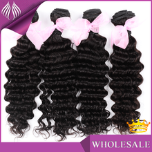 High quality human natural virgin brazilian deep wave hair