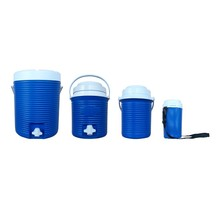 Plastic Insulated portable outdoor Ice water cooler Jugs/ buckets set for beer, wine, fruit juice, camping, party use