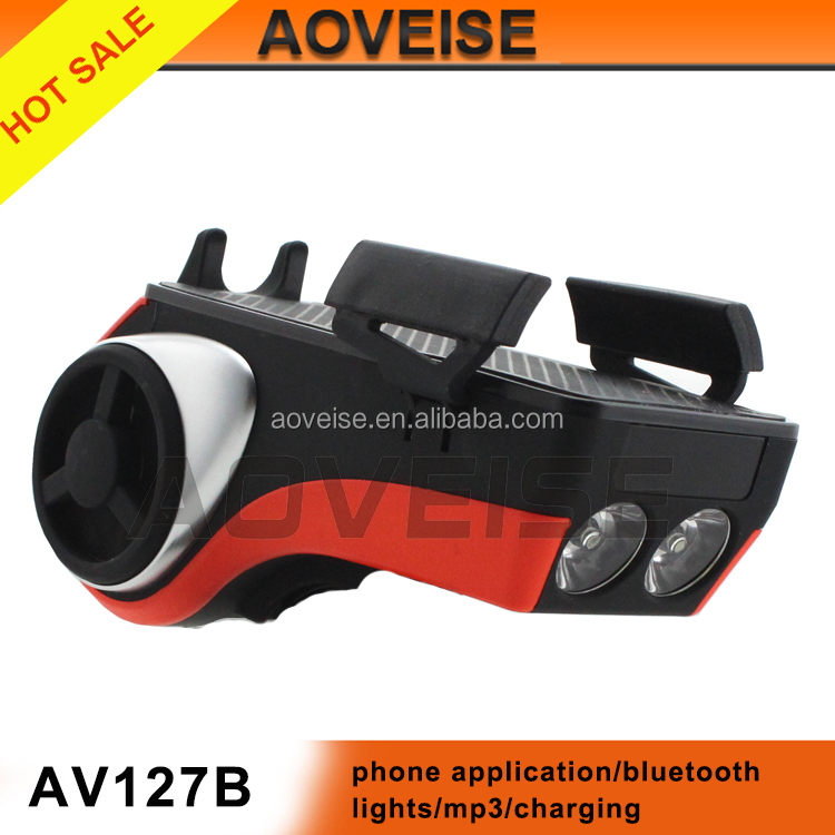 Hot sale Waterproof Portable Bicycle Bluetooth Speaker support USB/SD/AUX input AV127B[AOVEISE]
