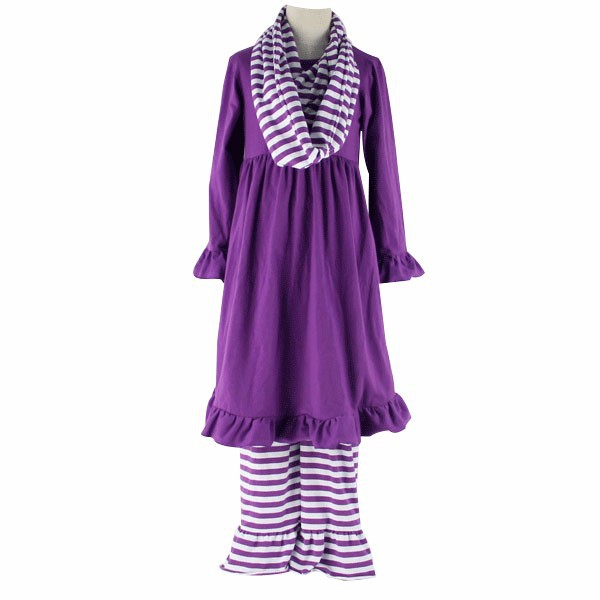 2015 new style scarf set kaiyo wholesale toddler girls boutique clothing sets kids and baby wears vestidos casuales
