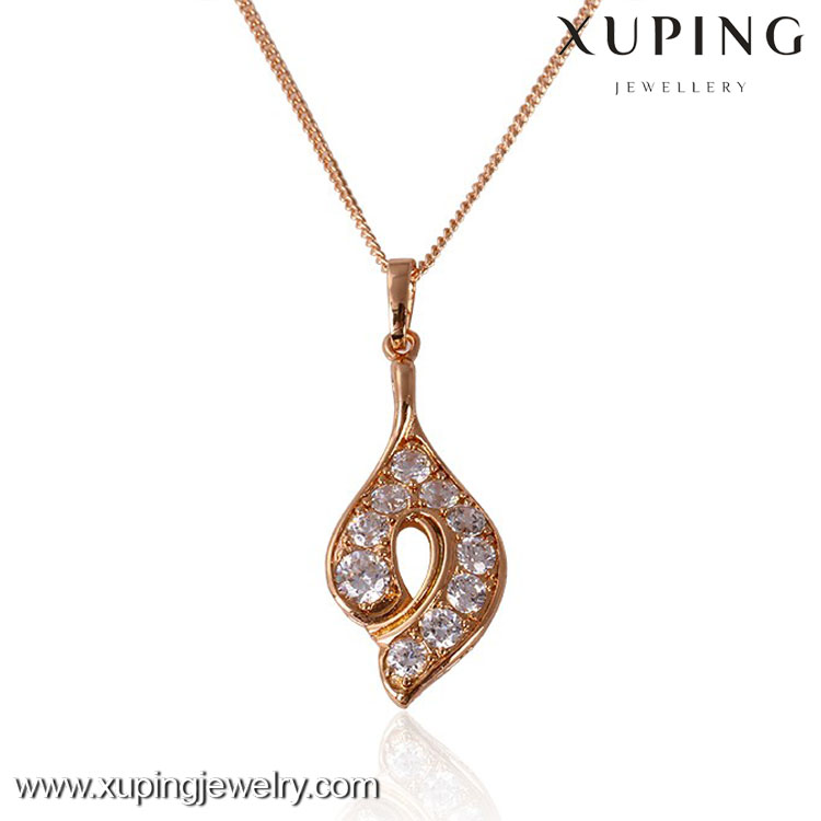 31127 Xuping copper alloy wholesale elegant style strass pendant for women