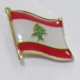 Custom Made Lebanon Flag Badge Country Metal Pin with Epoxy