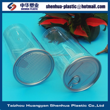 1050ml packaging plastic can 1050g 37oz clear PET ring-pull can