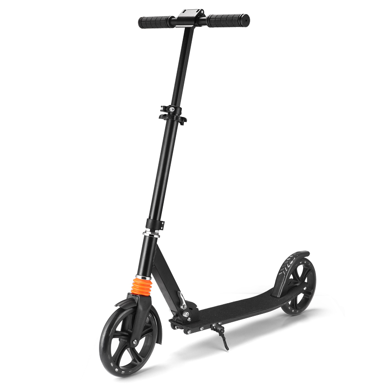 New high quality aluminum scooter 200MM 2 big wheel kick scooter adult