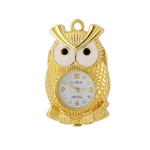 Novelty silver gold owl shape jewelry usb 3 flash drive 32gb no case with keychain