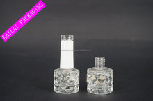 8ML glass clear bottle for water base nail polish with Acrylic cap and brush