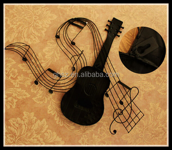 Metal violin musical style metal craft for home decoration