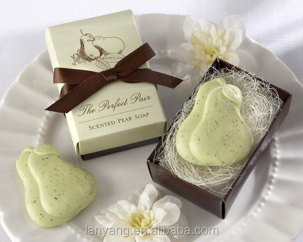 Perfect Pair Scented Pear Soap Bridal Wedding Favors in Gift Box