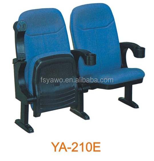 5-year warranty durable fabric folded theater chair cinema seating cup holder